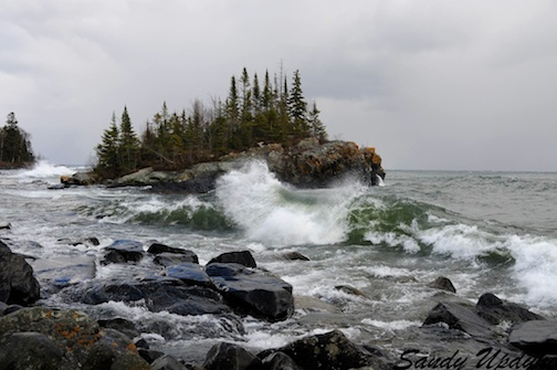 November on Lake Superior. Photo by Sandra Updyke.