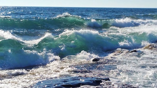 Waves of Lake Superior by Sierra Parsons.