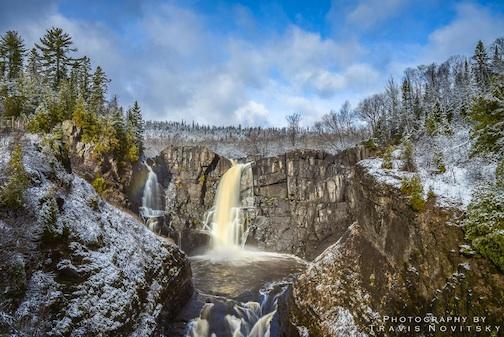 First Snow at High Falls by Travis Novitsky.