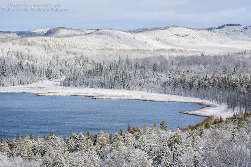 First Snow at Teal Lake by Travis Novitsky.