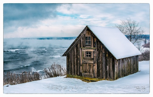 Old Fishhouse by Peter Caley.