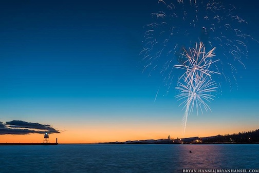 Winter fireworks over Thanksgiving weekend by Bryan Hansel.