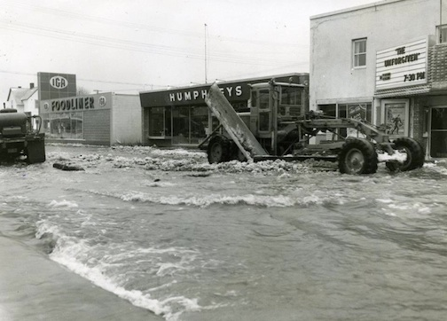 Clean-up after the Nor'easter flood of Nov. 28, 1960..