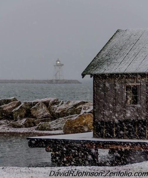 Harbor Snowfall by David Johnson.