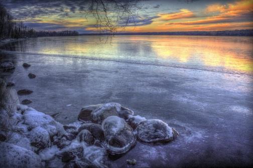 """""""Dusk I: The Lake is Frozen"""" by Don Davison."""