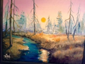 Painter Kathy Fox Weinberg is a new artist at Kah-Nee-Tah Gallery in Lutsen.