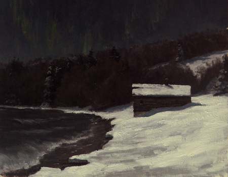 Cold North --New Year's Eve, oil, by Neil Sherman.