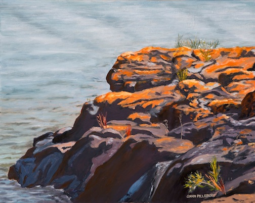 Sandi Pillsbury Gredzens' painting exhibit at Tettegouche State Park has been extended through mid-January.