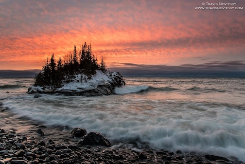 Mild Winter Morning at the Rock by Travis Novitsky.
