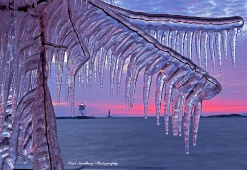 Grand Marais Harbor Sunset by Paul Sundberg.