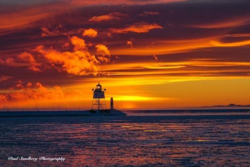 """""""Lake Superior Subzero Sunset"""" by Paul Sundberg."""