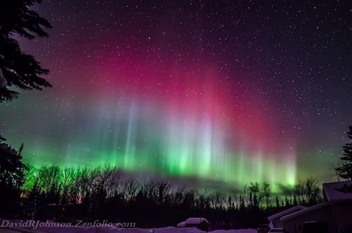 Northern lights, taken Jan. 20, by David Johnson.