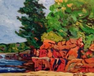 Paintingby Douglas Ross.
