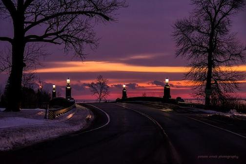 """Sunrise over the Lester River"" by Kirk Schleife."
