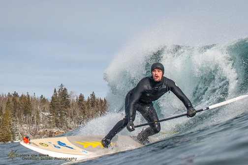 Surfer at Stoney Point by Christian Dalbec.