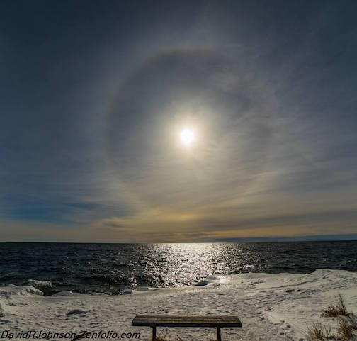 Sun halo by David Johnson