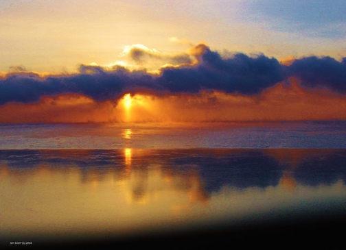Winter sunrise by Jan Stewart.