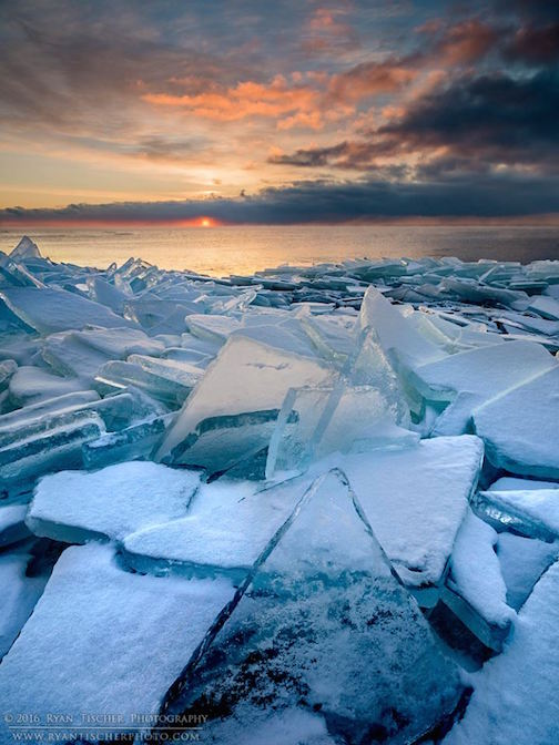 """Ice Shard Sunrise"" by Ryan Tischer."