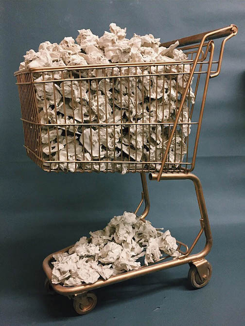 """One of the works in the Lakehead Exhibition: Stephanie Todd's """"Continuous Feeding."""""""