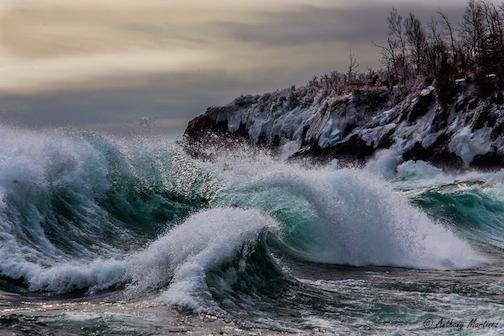 Lake Superior Waves by Anthony Martinez.