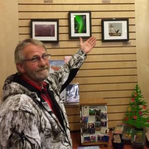 David Johnson shows his wall of photographs at Sivertson Gallery.