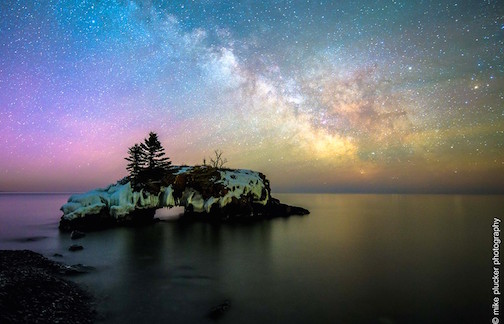 Hollow Rock &the Milky Way by Mike Plucker