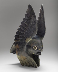 This soapstone sculpture by Toonoo Sharky of Cape Dorset is at Sivertson Gallery.