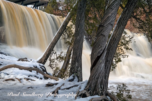 Paul Sundberg took this wonderful photo of the falls at Gooseberry State Park in full spring flood.