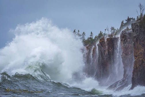 Christian Dalbec took this fantastic photo at Tettegouche earlier this week during the storm. Enjoy!