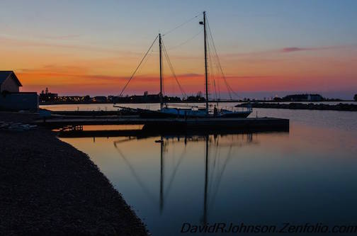 Daybreak at the Marina, by David Johnson.