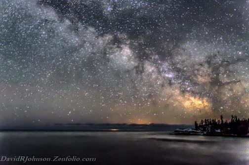 The Milky Way Rising Over Lake Superior by David Johnson.