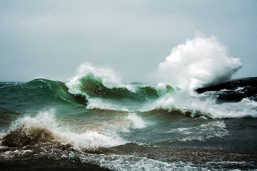 Kirk Schleife took this incredible photograph of the surf at Cove Point recently.