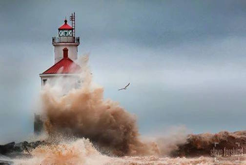 """Wisconsin Point Lighthouse by Steve Forslund."