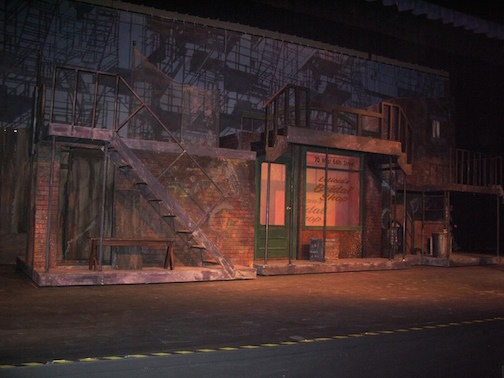 "One of the sets for ""West Side Story"" which opens in Silver Bay on Thursday. (Photo by Kurt Mead.)"