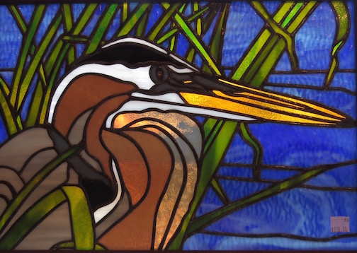 Shelly Bouquet has stained glass works at the Blue Moose Gallery.