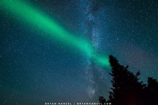 Northern Lights Lasers Beam by Bryan Hansel.