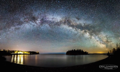 Milky Way at Split Rock by Greg Lundgren.