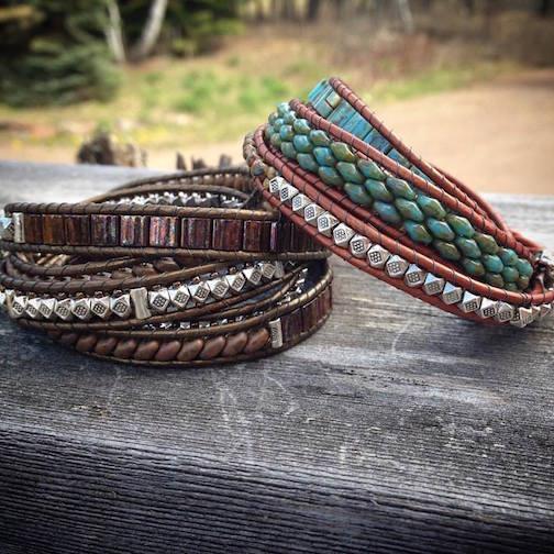 Bracelets by Deb Levens.