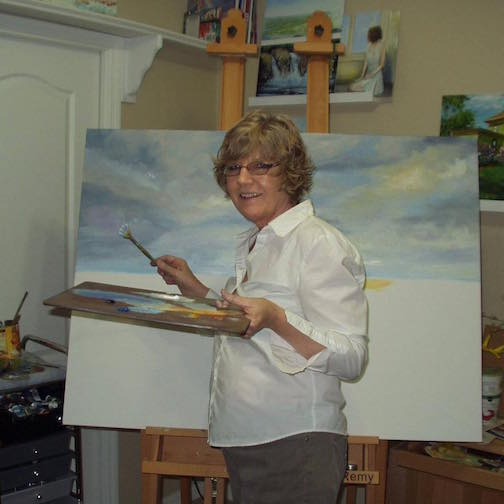 Kathy Fox Weinberg will teach a Mother's Day Paint at Kah-Nee-Tah Gallery on Saturday.
