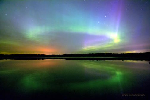 Northern Light Circles by Kirk Schleife.