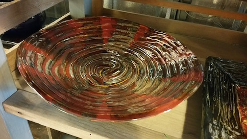 Ceramic platter by Carol Miller.