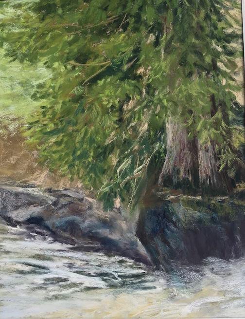 """Cascade Cedars"" by Kristin Blomberg."