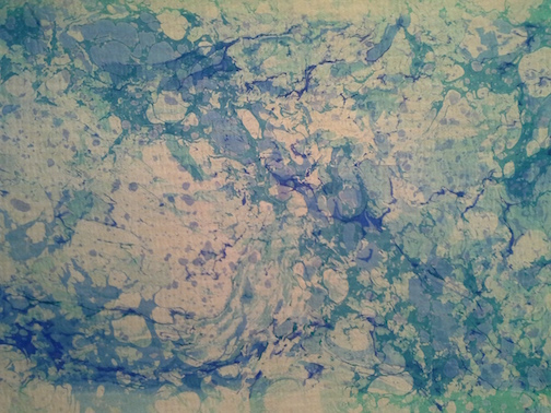 Marbled Monoprint by Misha Martin.