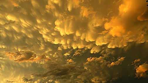 Robin Harvey caught these mammatus clouds over Caribou Lake before the storm hit.