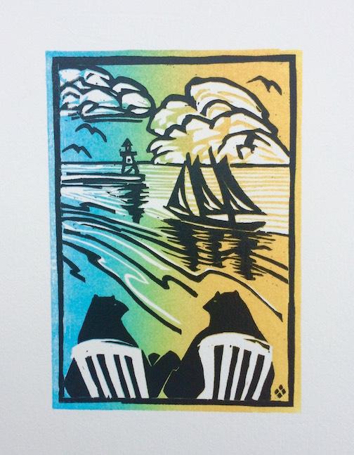 """Sunset"" by Betsy Bowen."
