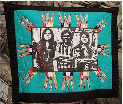 """Ogidichaakewag-2016,"" fabric-quilt by Celeste-Pedri-Spade."