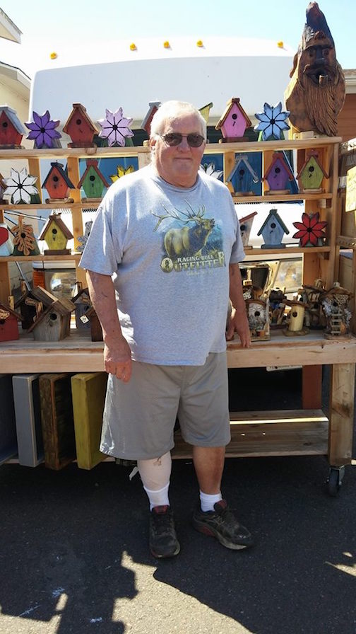 Jeff Liljestrand is one of the artisans at the Cook County Farm & Craft Market.