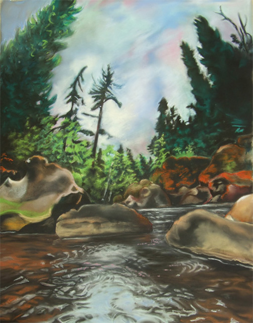 """Tettegouche""by Charlotte Durie. Durie is one of the artists exhibiting at the Cross River Heritage Center this month."