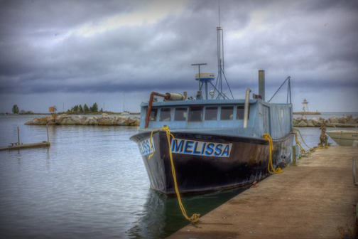The Melissa at Dockside by Don Davison.