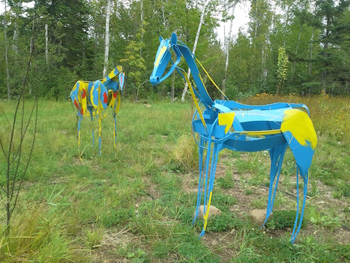 Tom Christiansen's horse sculptures have been installed at the North Shore Winery.